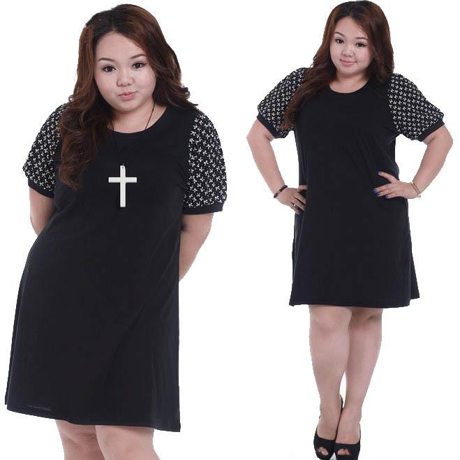 2015 Retro Sweet Dresses Plus Size Women Dresses Round Neck For Women Summer Clothing Ladies