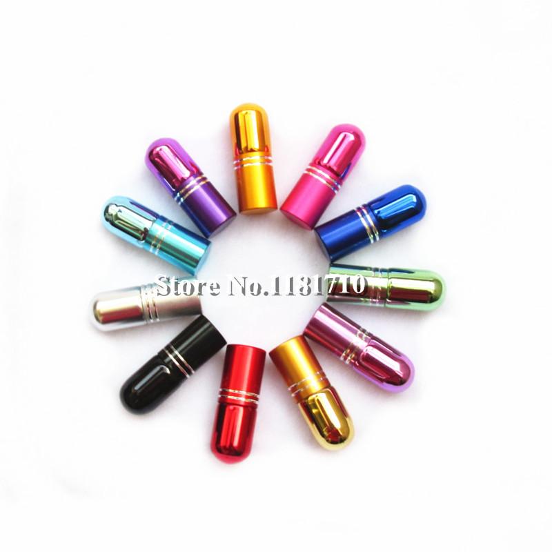 1pc 3ml Small Glass Roll Bottle Refillable Roller Essential Oil Travel Perfume Vials - Bottles store