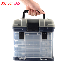 Buy 27*17*26cm 5 Layer PP+ABS Big Fishing Tackle Box High Plastic Handle Fishing Box Carp Fishing Tools Fishing Accessories for $30.93 in AliExpress store