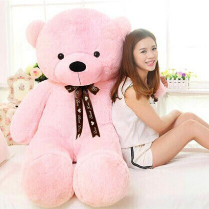 [110cm 5 Color] giant teddy bear stuffed plush toys valentine gift Factory Price CA020(China (Mainland))
