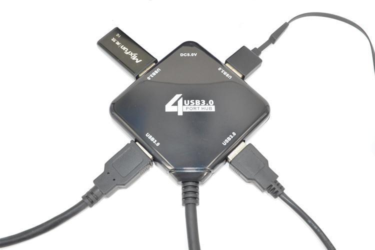 5pcs High quality 4 port hub splitter USB3.0 HUB, 4 Port usb charger adapter 4X USB Port 5Gbps For Laptop PC MAC CHIP USB3.0(China (Mainland))