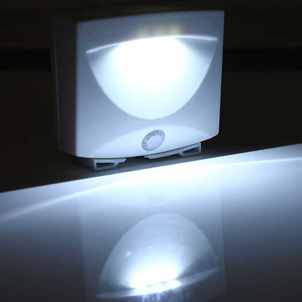 Mighty Light LED Motion Sensor Activated Night Light Indoor Outdoor Lamps