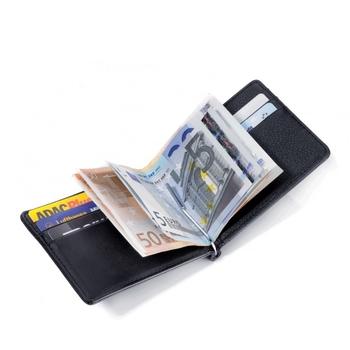 Кожаный бумажник подлинной кошелек с парнем марка зажим для денег и зажим для денег