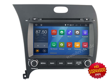 Android 4.4  Car DVD player Radio Stereo GPS  for Kia K3 Forte Cerato 2013   / 3G WIFI OBD  /1024*600 HD screen