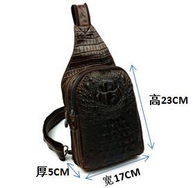 NEW High Quality Retro Vintage Alligator Genuine Oil Wax Leather