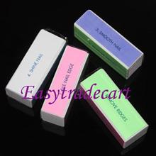 4pcs/lot Nail Files Nail Tools, 4 Sides Nail Buffer Styling Tools For Nails, Pedicure Tools And Manicure Tools Free Shipping  (China (Mainland))