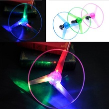 10Pcs/lot large Amazing LED Multicolor Light Arrow Rocket Helicopter rotating Flying Toy Christmas Party Fun Gift(China (Mainland))
