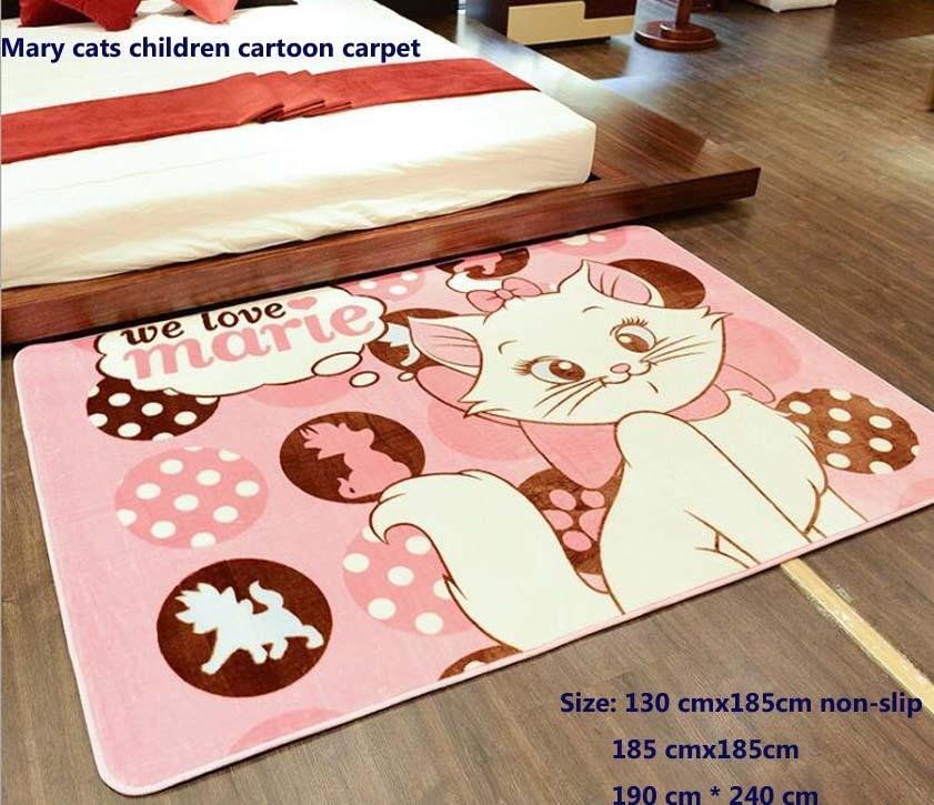 brand Mary cartoon cat children bedroom carpet The living room floor MATS Baby toddler climbing blanket three size options(China (Mainland))