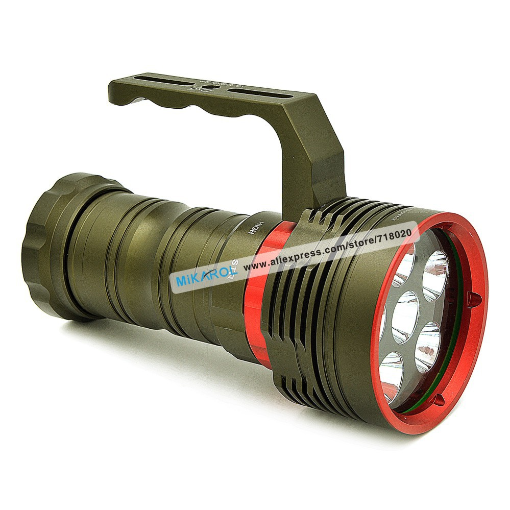 Deluxe Hot Selling Lanterna Rechargeable Torch Light, 200M Cree Flashlight 8000 Lumens Diving Lantern LED Lamp Waterproof(China (Mainland))