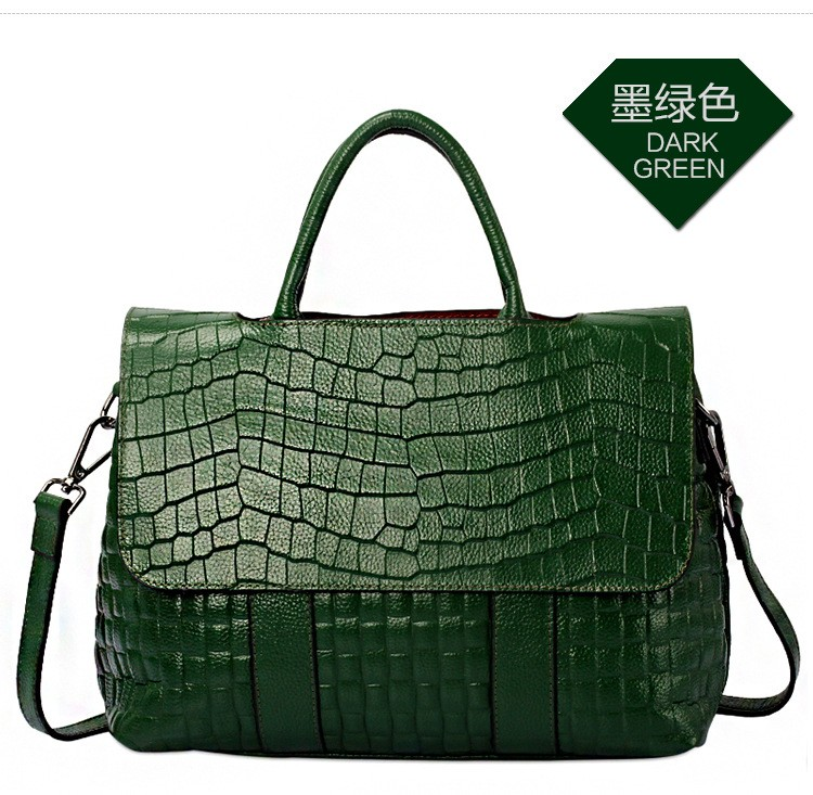 Womens bags famous brand luxury famous brand genuine leather handbag shoulder women Crocodile pattern crossbody shopping bags