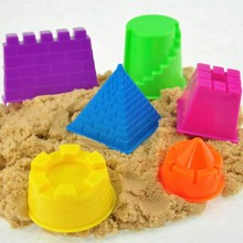 6Pcs/Set Portable Castle Sand Clay Mold Building Pyramid Sandcastle Beach Sand Toy Baby Child Kid Model Building Kits(China (Mainland))