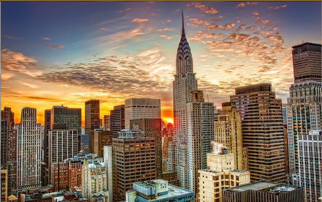 Custom photo wallpaper 3d european new york city high rise for New york 3d wallpaper