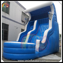 Giant inflatable dolphins water slide, inflatable wave shape water slide with pool for sale(China (Mainland))