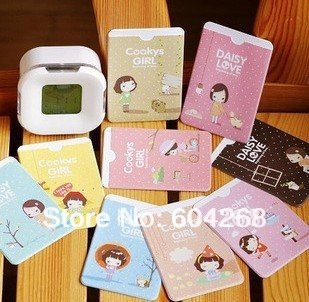 Freeshipping!Wholesale,New Fashion Cute Lovely Girl Credit Card Holder/Card bag/Card Case (2 sides card)/Bus Card/Card Package