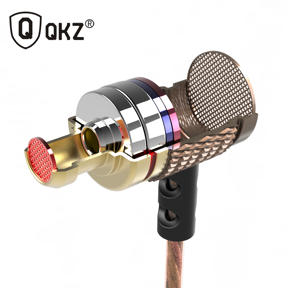 QKZ DM6 Earphones Enthusiast bass In-Ear Earphone Copper Forging 7MM Shocking Anti-noise Microphone Sound Quality fone de ouvido(China (Mainland))