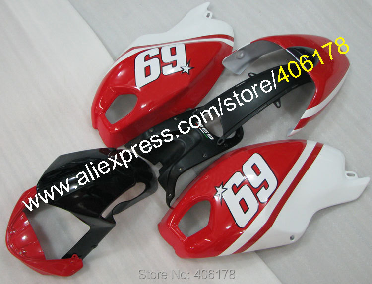Hot Sales,Red Black White For Ducati Fairing 696 796 795 M1000 M1100 09-13 ABS Motorcycle Fairings Kit (Injection molding)(China (Mainland))