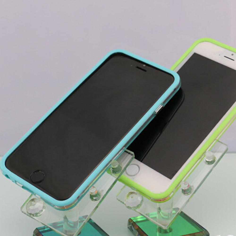 Top Quality 10 colors Bumper Frame Skin phone case for Apple iPhone 6 Plus TPU Silicone Cover.(China (Mainland))