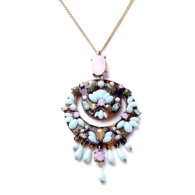 New Look Ethnic Style Large Pendant Long Necklace 2015  Factory Wholesale(China (Mainland))
