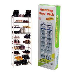 10 layers foldable white color amazing shoe rack multifunction shelf easy assemble shoes storage savings cabinet(China (Mainland))