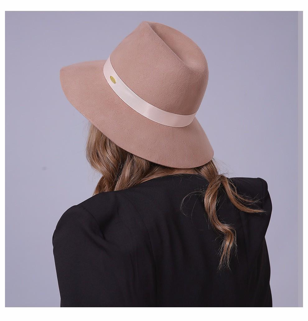 brand fashion wide brim australian wool felt hat