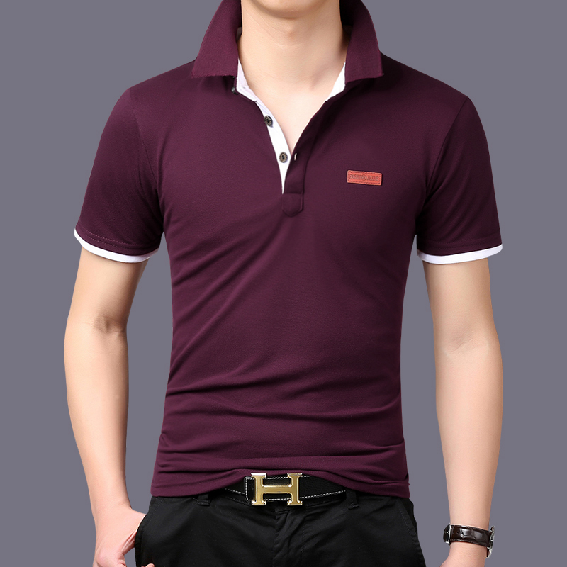 Summer Style Men 39 S Classic Solid Polo Shirt Short Sleeve