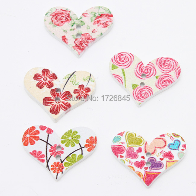 Hot-selling 30pcs/lot Mixture Color Flower Plated Heart Glass Accessories Fit Clothing 29*23*2.5mm A10139(China (Mainland))