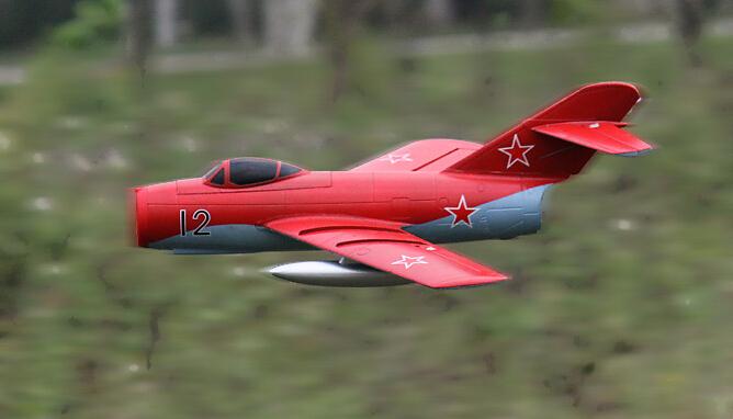Freewing mig-15 V2 64mm edf jet plane PNP format mini hand launch rc model airplane(China (Mainland))