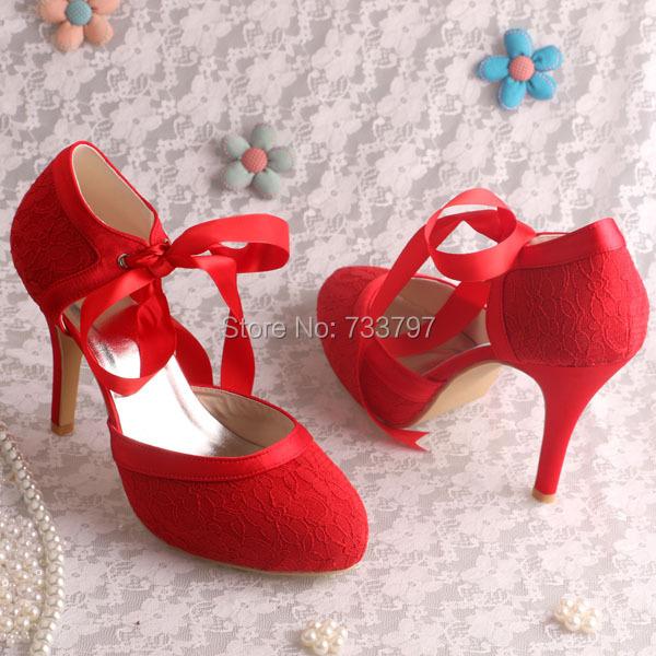Wedopus Wedding Shoes High Heel Ribbon Dress Evening Shoe Wholesale China Shoe
