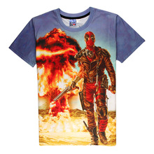 Hot Deadpool 3D Print T-shirt Madpool Unisex Summer Marvel Comic Loose Homme Wade's No Good Tops The Mere with the Mouth