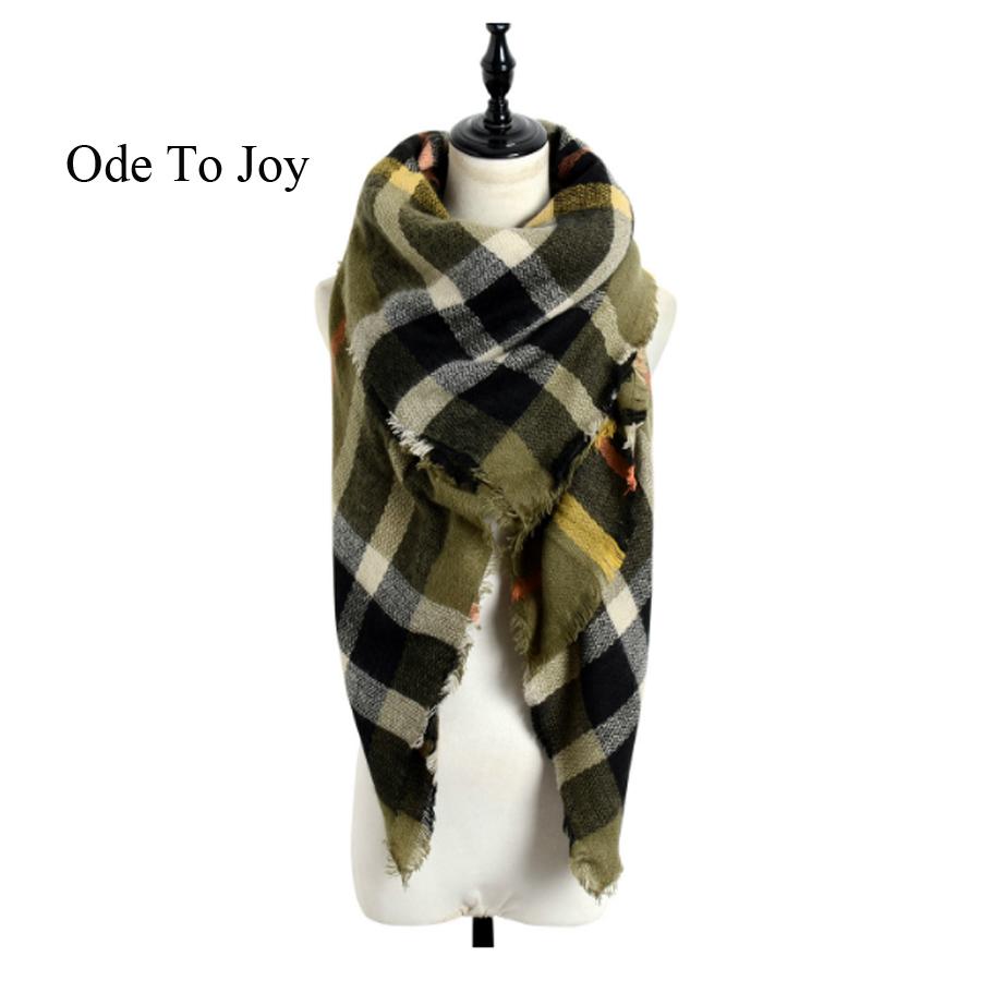 winter scarf 2016 font b Tartan b font Scarf women design Plaid Scarf New Designer Unisex