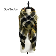 winter scarf 2016 Tartan Scarf women design Plaid Scarf New Designer Unisex Acrylic Basic Shawls warm bufandas