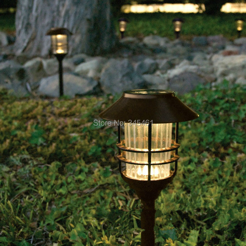 10 X Stainless Steel Led Solar Pathway Lamp Outdoor Yard,Road, Garden Decoration Lights Led Lamparas Solares Dia17cm,Height 50cm<br><br>Aliexpress