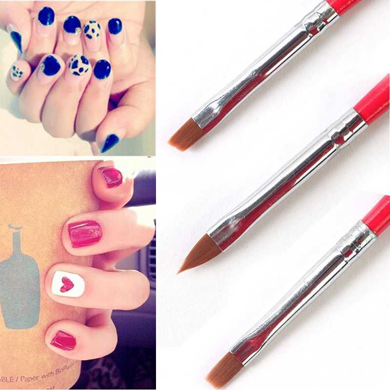 Гаджет  1Set/3PCS Soft and Professional Pen UV Gel Drawing Painting Nail Art Brushes Manicure Nail Tools Free Shipping None Красота и здоровье