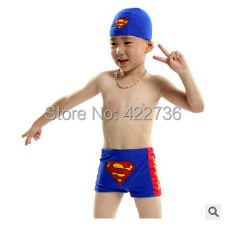 cap!For 2-16 years old kids sunga swimwear 2015 child superman swimsuit baby children boys bathing suit swimming box trunks  -  Mary Fashion Large Size Clothing Store ( S-10XL store)