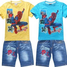 Buy 2017 Summer Children Cotton Clothing Sets Baby Boys Cartoon Clothes Sets Spiderman Kids T-shirt +Shorts 2Pcs Casual Sport Suits for $10.94 in AliExpress store