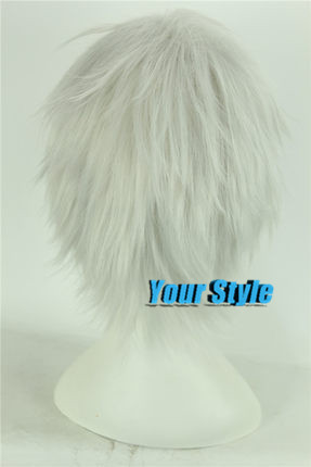 Japanese Soul Silver Gintama Sakata Gintoki Cosplay Wig Short  Boy Pixie Cut  Cosplay Wig Male Peruca Cosplay Perruque Homme Men<br><br>Aliexpress
