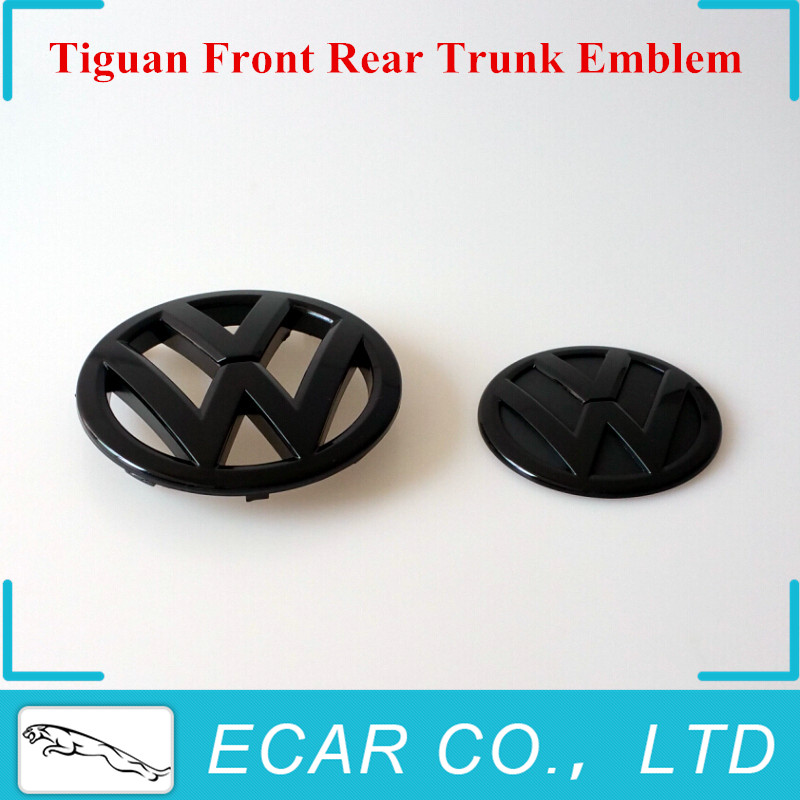 2Pcs/Pair 146mm 110mm VW VOLKSWAGEN Gloss Black Front Rear Trunk VW Emblem Badge Replacement for Tiguan 09-14 Car Styling<br><br>Aliexpress