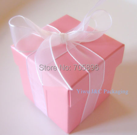 FREE SHIPPING-- 2PC Hot Pink Wedding Favor/Candy Boxes,Birthday Gift Box (JCO-115G)(China (Mainland))