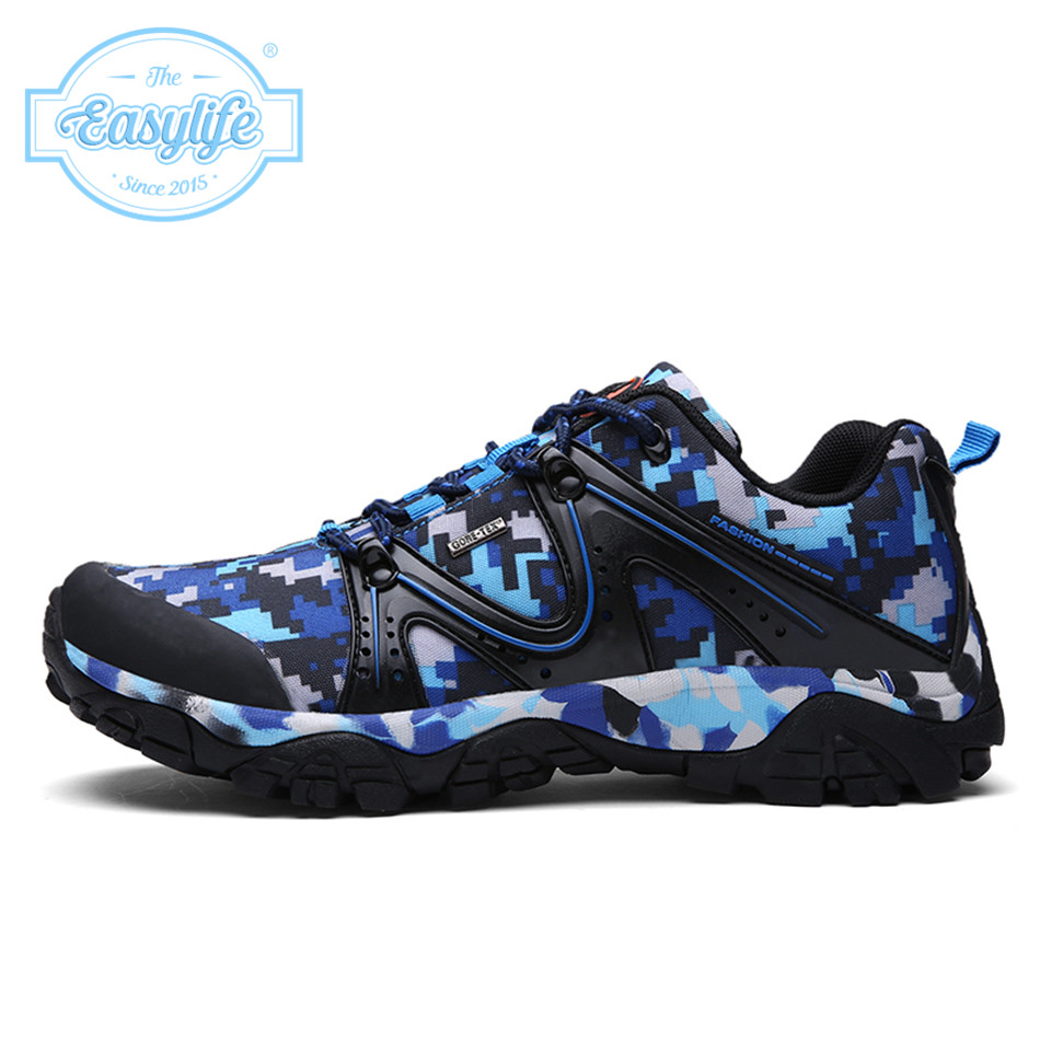 Camouflage Hiking Shoes Anti-Slip Wearable Rubber Soles Outdoor Shoes Maden Camouflage Trekking Shoes Sneakers Easylife 8160(China (Mainland))