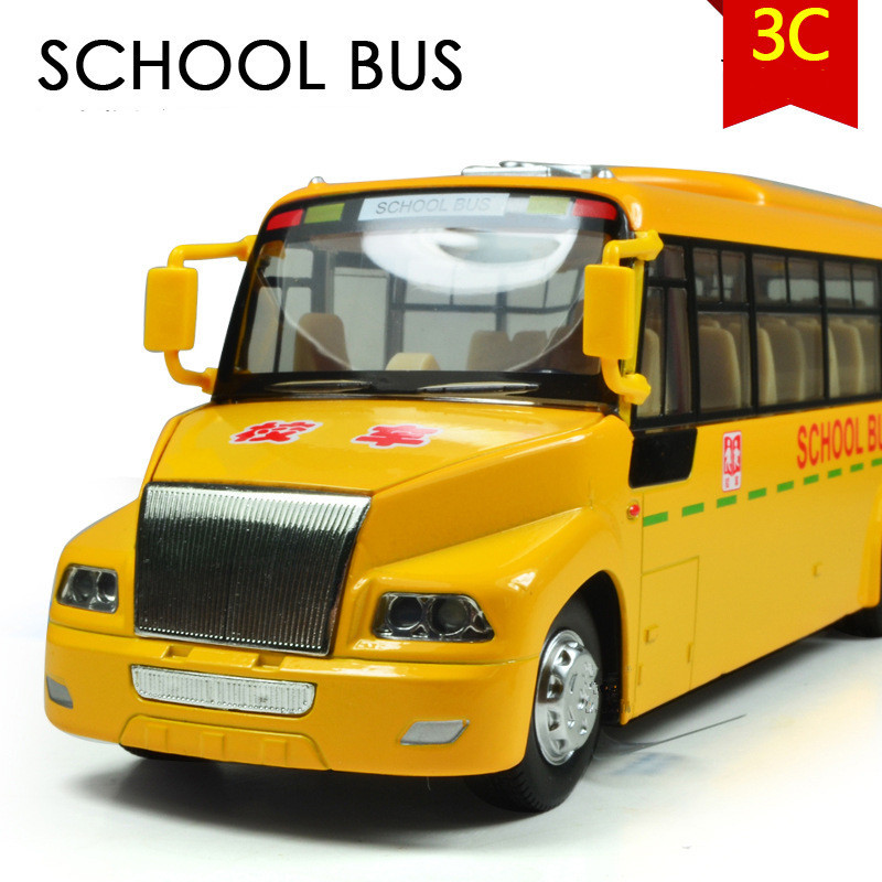 Discount 50% Big Yellow School Bus, 1:24 alloy Pull back model cars,suv models,Diecast car,free shipping(China (Mainland))