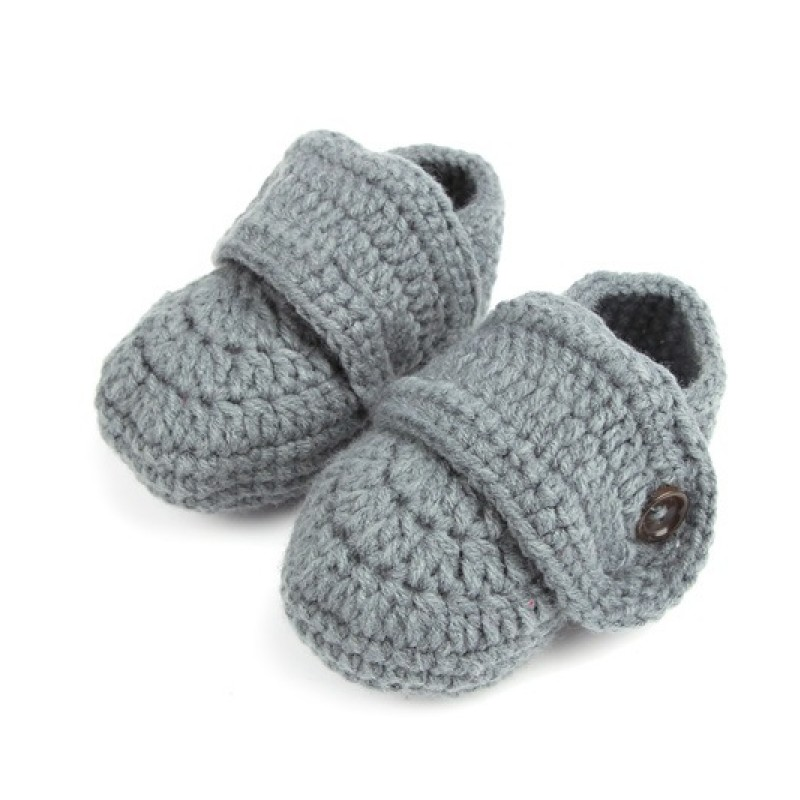 Fashion Buckle Baby Boy Shoes Handmade Knitting Crochet Booties Cheap Baby Crochet Shoes 8-11 cm fit 2-8M Infant 0511(China (Mainland))