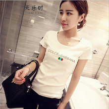 2016 Summer Modal Womens T-Shirts M-XXL Size Short Sleeve Slim Casual New Tops & Tees Fashion