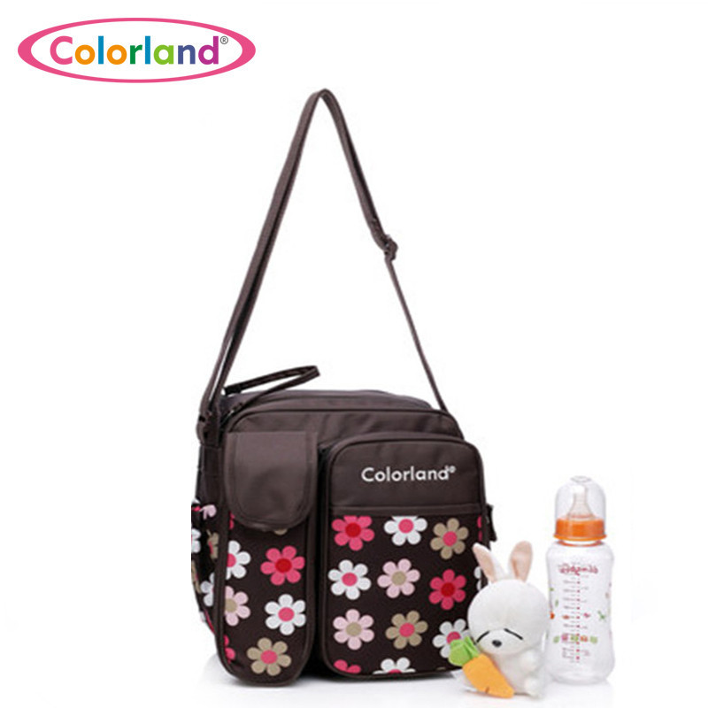 Fashion Large capacity flower printing waterproof Nappy bag font b maternity b font Nursing baby bag