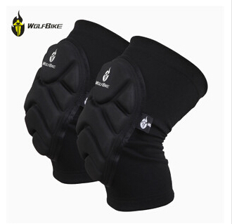 WOLFBIKE Two Pieces Kneepad Skiing Goalkeeper Soccer Football Volleyball Extreme Sports knee pads Protect Cycling Knee Protector(China (Mainland))