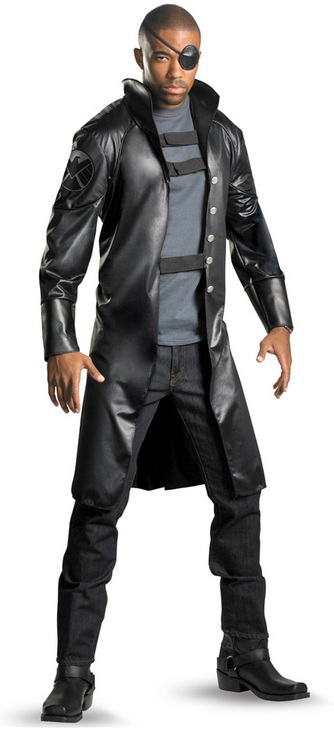 Free shipping The Avengers Nick Fury Cosplay costume Halloween Fancy for women party/ christmas