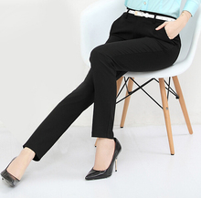 Women Fashion Elastic Casual Trousers Female Brief Slim OL Formal Work Pants Long Trousers