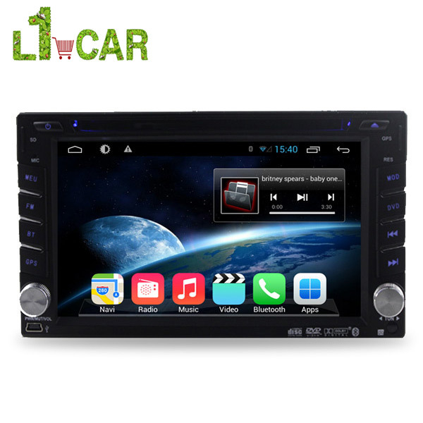 2 Din Universal Pure Android 4.4.2 Dual Core 1.7GHz Car PC With Video Player Radio GPS Bluetooth WIFI TV Touch Screen MP3 3G BT(China (Mainland))