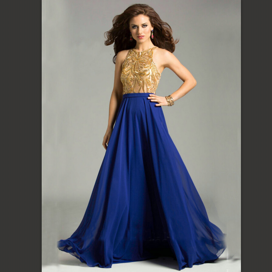 Long dress of party