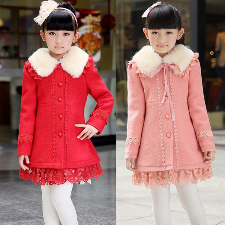 Girls Coat NEW Autumn Winter Child Long-Sleeve Princess Dress Children Outerwear Clothing Y05-1 - SNOW LOVE store