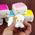 1PCS Chinese Squishy Tofu Adorable Colorful Soft Expression Smile Face Fun Toys Hobbies Collectibel